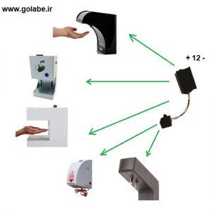سنسور جدید دستگاه ضد عفونی
